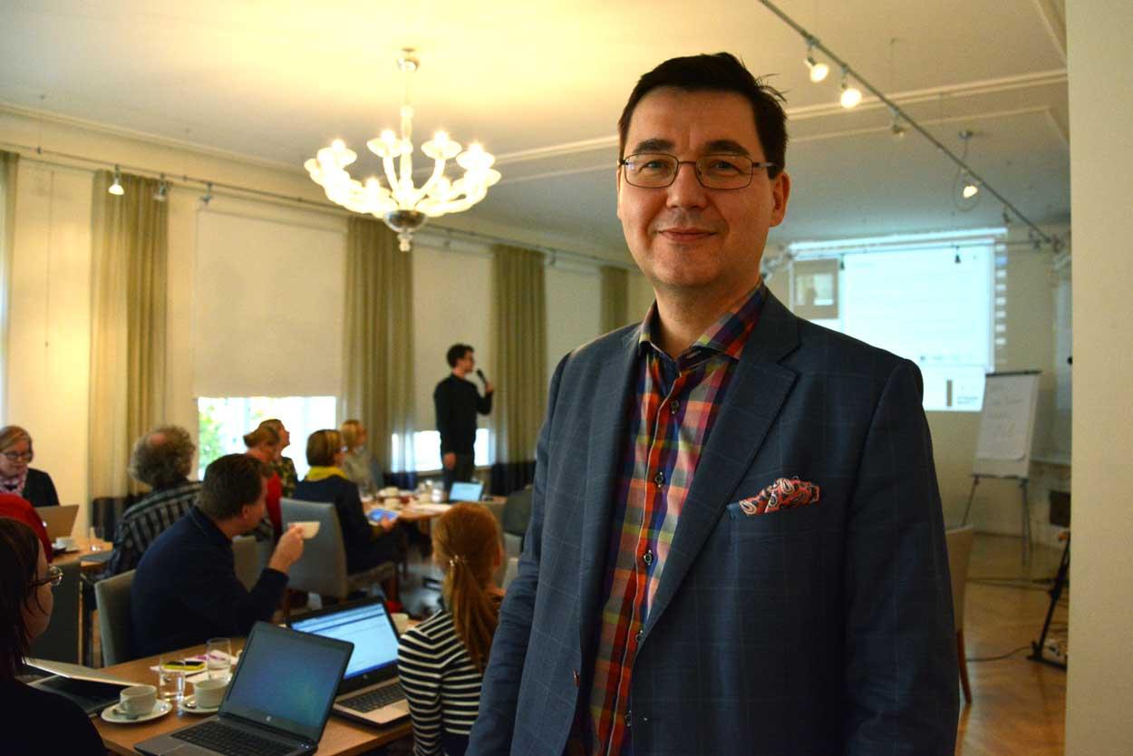 Mikko Hartikainen korosti LOPS2016 arvot ja toimintalulttuuri -hautomossa puheenvuorossaan toimintakulttuurin pitkäjänteistä kehitystyötä.